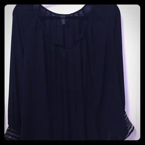 Sheer Black Dress Top